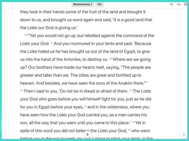 A Life-Changing Sentence In Deuteronomy