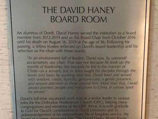 The David Haney Board Room